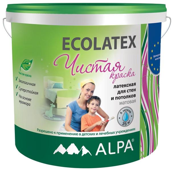 ECOLATEX  5л ECO Экологичная латексная краска для стен и потолков