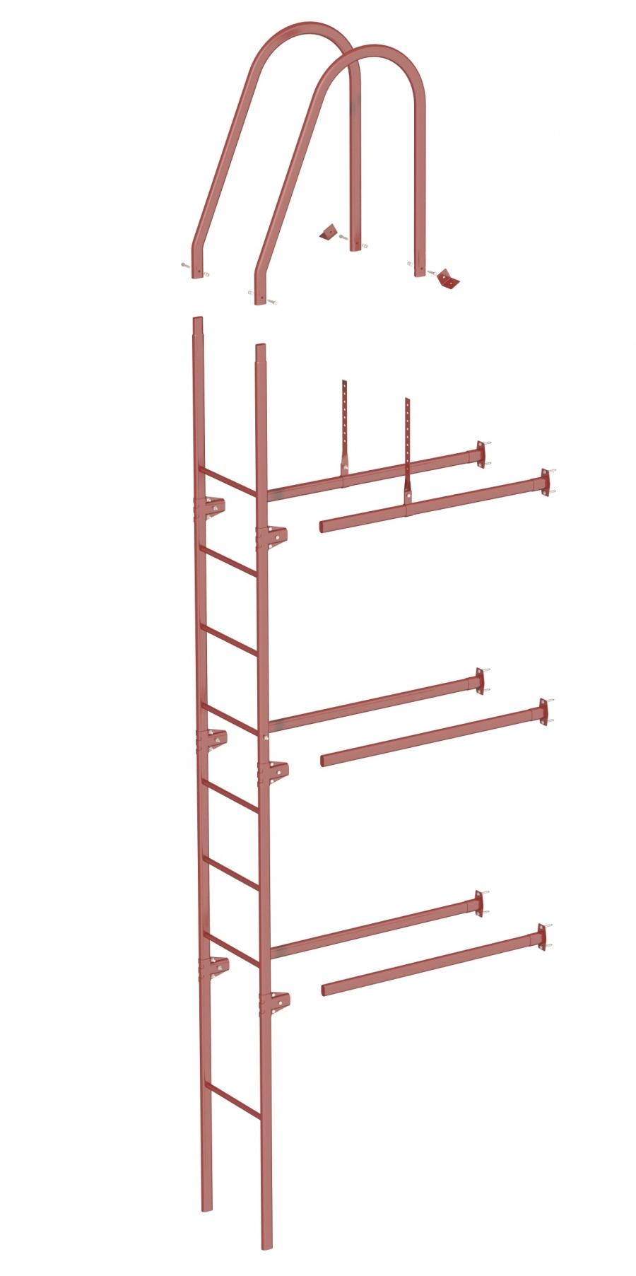 Комплект лестница фасадная BORGE 3 м (нижняя секция)