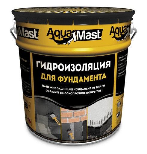 Мастика битумная AquaMast для фундамент 3кг(4х36)