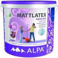 Маттлатекс 10л Латексная краска для стен и потолков (1л/7кв) ALPA (44)