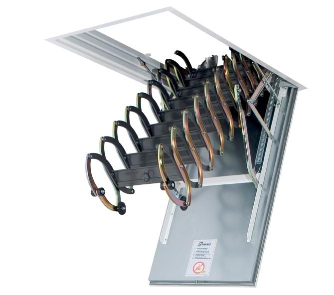 Металлическая огнестойкая лестница LSF 70х120х300