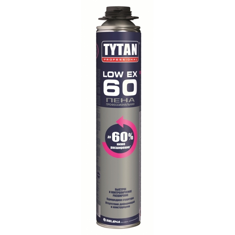 Пена Tytan Professional LowEx 60 профессиональная 750 мл (12)