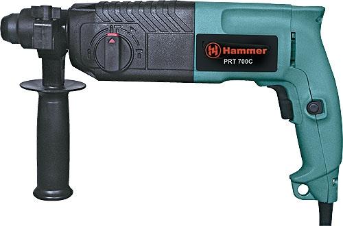 Перфоратор HAMMER PRT700C PREMIUM  700Вт SDS+ 24мм 0-800об/мин 2.2Дж 3 режима кейс