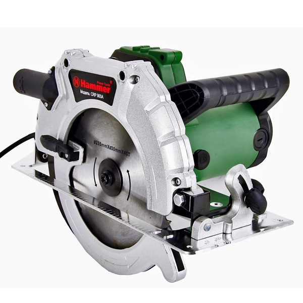 Пила циркулярная HAMMER Flex CRP900А  2200Вт 4200об/мин 235x30мм макс.пропил 85мм литое осн.