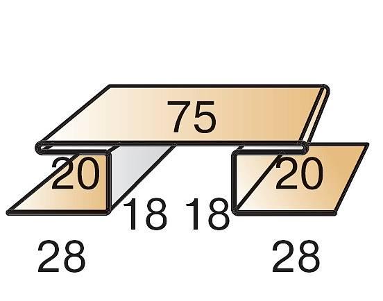 Планка стыковочная сложная 75х3000