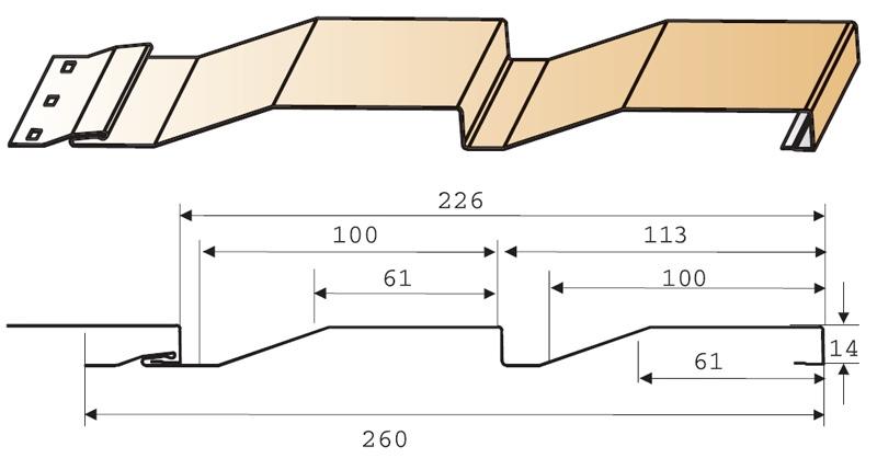 Сайдинг МП СК-14х226(260) - ПЭ-0.45