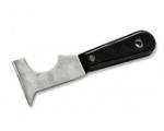 Шпатель-скребок из нерж.стали,резино-пласт.ручка 75мм мноофункц.