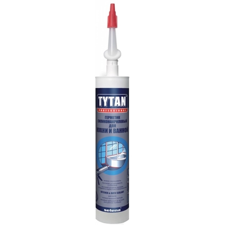 Tytan Professional Герметик Силиконакриловый для Кухни и Ванной бесцветный 310мл(12)