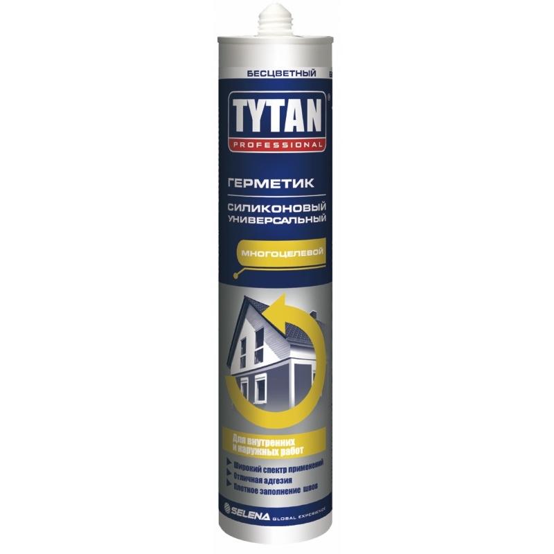Tytan Professional Герметик Силиконовый Универсальный белый 310мл (12)