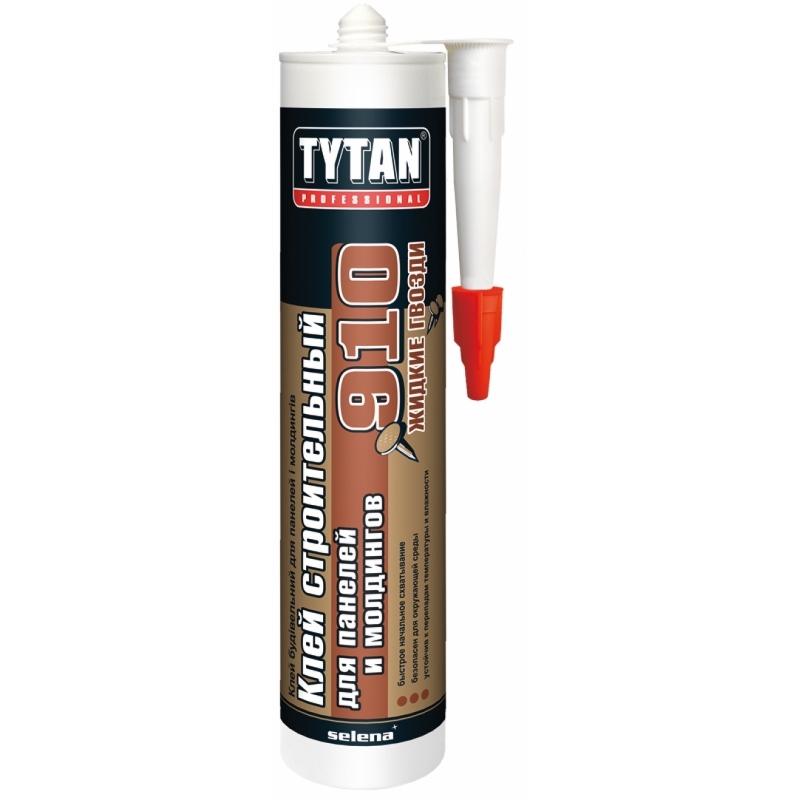 Tytan Professional клей строительный для панелей и молдингов №910 белый 440гр (12)