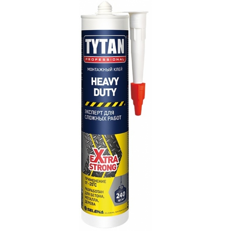 Tytan Professional Монтажный клей  HEAVY DUTY, 310 мл(12)