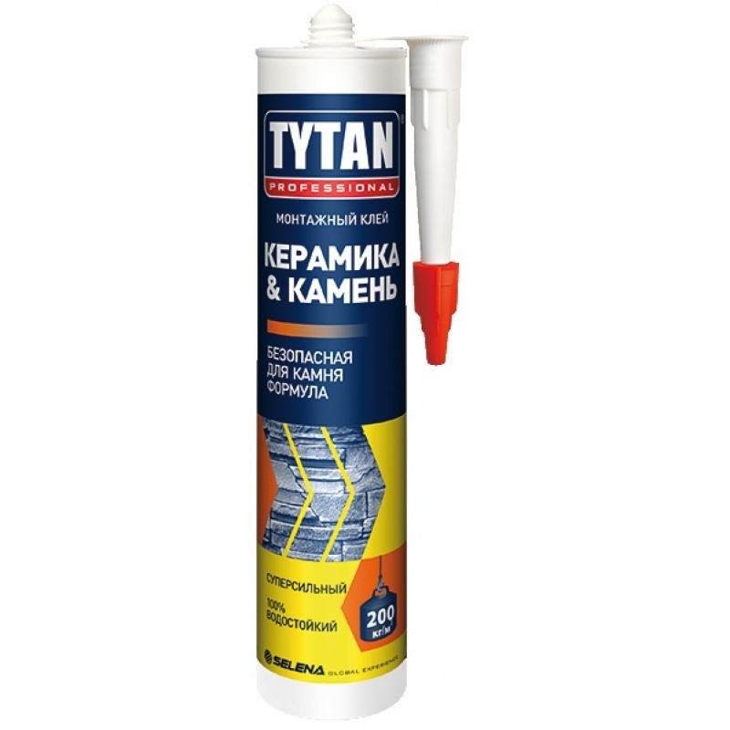 Tytan Professional Монтажный клей Керамика & Камень, 310 мл(12)