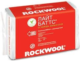 Плиты Лайт Баттс /ROCKWOOL/ (уп. 10 плит) 1000*600*50 (0,3 м3) 6 м2