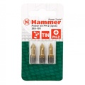 Бита HAMMER 203-105 PB PH-2 50mm (3pcs)  TIN, 1шт.