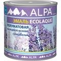 Экоэмаль Полуматовая на водной ос-ве 0.5л Альпа (528)