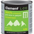 Элемент L-010 Эмаль алкидная 0.5л для окон и дверей полуматовая