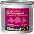 Элемент S-1 Декоративная штукатурка для внутренних и наружних работ 15кг