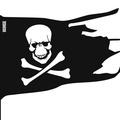 Флюгер средний Пиратский флаг