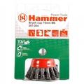 Кордщетка HAMMER 207-109  65мм M14  чашеообразная витая, усиленная кольцом, для УШМ