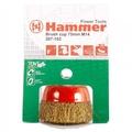 Кордщетка Hammer Flex 207-201 50мм d6  чашеобразная гофрированная мягкая, с хвостовиком