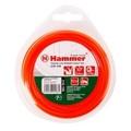 Леска триммерная HAMMER 216-106 TL ROUND 2.4мм*15м  круглая, цвет - красный (10)