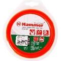 Леска триммерная HAMMER 216-107 TL ROUND 3.0мм*15м  круглый, красный (10)