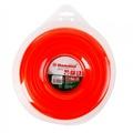Леска триммерная HAMMER 216-116 TL ROUND 3.3мм*46м  круглая, цвет - красный, + нож (10)