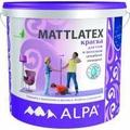 Маттлатекс 10л Латексная краска для стен и потолков (1л/7кв) ALPA