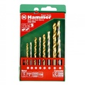 Набор сверел HAMMER 202-902 DR set No2 (8pcs) 4-8mm  металлкамень, 8шт.