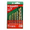 Набор сверел HAMMER 202-902 DR set No2 (8pcs) 4-8mm  металлкамень, 8шт.