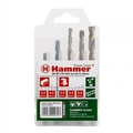 Набор сверел HAMMER 202-912 DR set No12 HEX (5pcs) 5-8mm  металлкамень, 5шт.