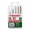 Набор сверел HAMMER 202-912 DR set No12 HEX (5pcs) 5-8mm  металлкамень, 5шт.