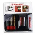 Набор сверел и бит HAMMER 202-911 DR set No11 HEX (15pcs) textile  металлкамень, 15шт.