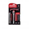 Отвертка с набором бит и головок (19 шт.)Hammer Flex 601-027 Т-образная рукоятка,CRV