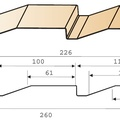 Сайдинг МП СК-14х226(260) Полиэстер 0,45мм (МП) Корабельная доска