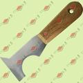 Шпатель-скребок,стальной с дерев. ручка 100мм