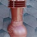 Вент. выход К-21-2 корич неизол D110 Н495мм  для мягкой кровли (при монтаже)