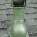 Вент. выход К-43-4 крас неизол D110 Н495мм для мягкой кровли с электро. вентилятором