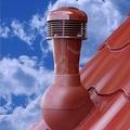 Вент. выход К-50-4 крас неизол D110 Н495мм для проф. кровель с электро.вентилятором