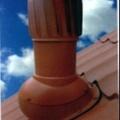 Вент. выход TN52-4 крас неизол роторный D150 Н520мм для мягкой кровли (готовой)